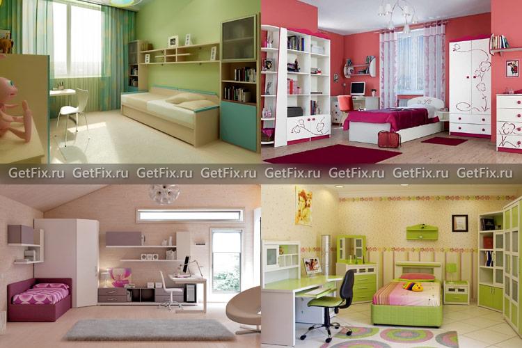 Различные цветовые решения детской комнаты