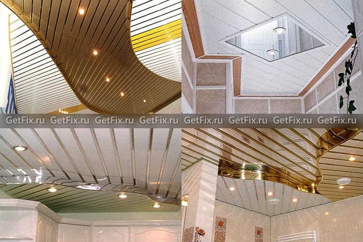 Дизайн алюминиевых реечных потолков