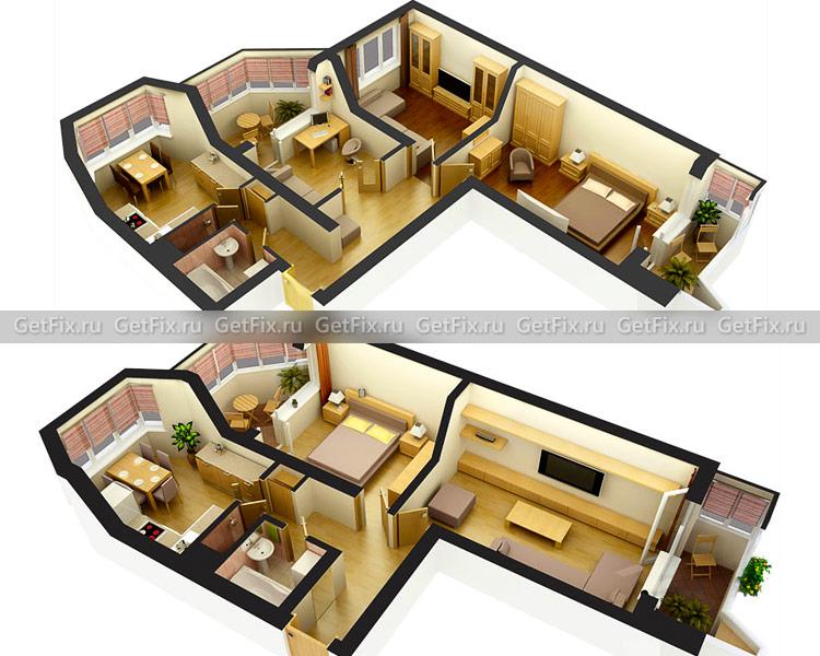 Варианты планировки квартиры