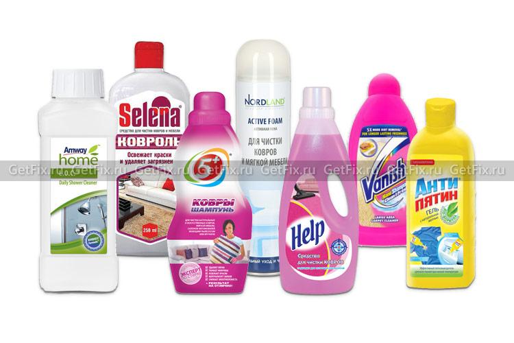 Специальные шампуни для чистки